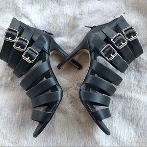 Sole Society So-Alexysia Strappy Black Heels